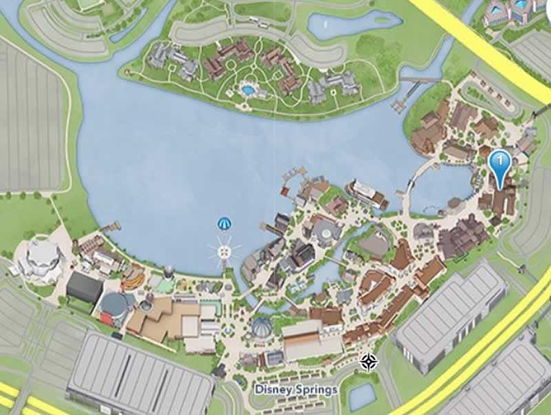 mapa photopass disney springs
