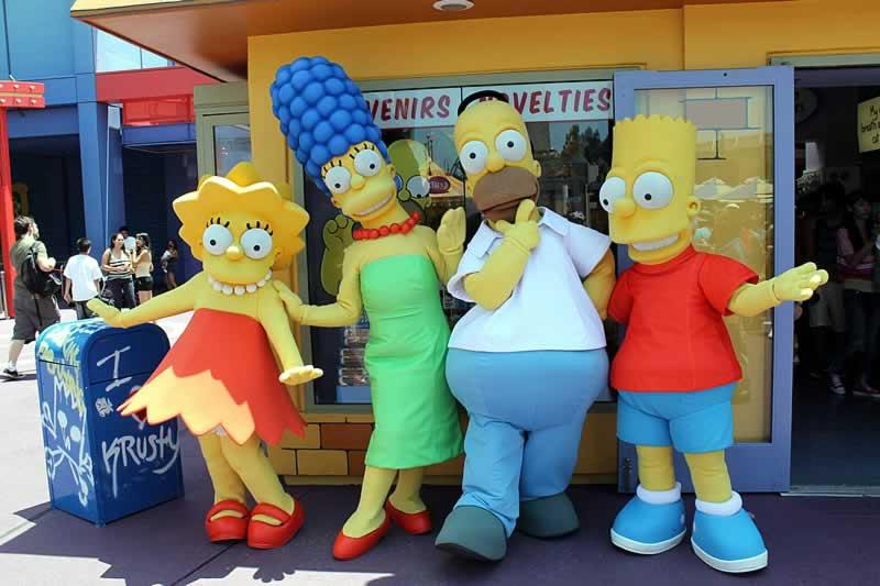 personagens da família simpsons Universal Orlando