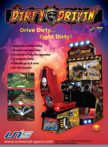 dirty drivin game graphic