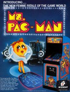 Mrs-Pac-Man-arcade-flyer game graphic