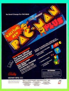 PAC-MAN-PLUS-ARCADE-FLYER game graphic