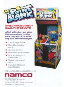 POINT-BLANK-arcade-flyer game graphic