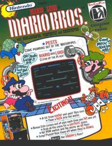SUPER-MARIO-BROS-arcade-flyer game graphic