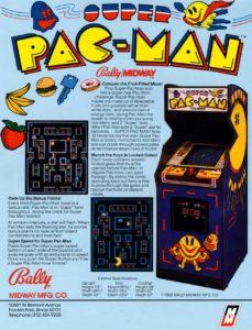SUPER-PAC-MAN-arcade-flyer game graphic