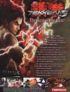 TEKKEN-5-ARCADE-FLYER game graphic