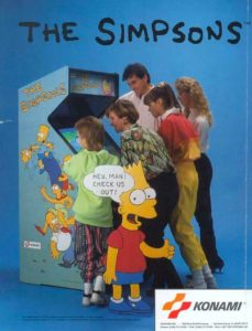 THE-SIMPSONS-arcade-flyer game graphic