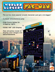 WORLDS-LARGEST-PAC-MAN-arcade-flyer game graphic