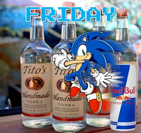 Friday Red Bull and Tito's special