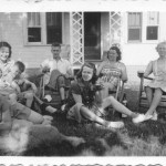 Mom and Grandma Mary Cooney:  Family in the Front Yard