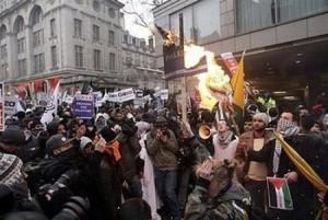 Muslims rioting in Europe.