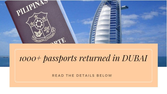 1000+ passports were returned to Dubai