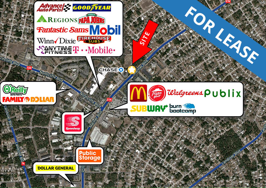 Retail Center: 4293 Mariner Blvd, Spring Hill, FL 34609