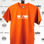 WHITE ON ORANGE SIC RYDE T SHIRT