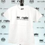 BLACK ON WHITE SIC RYDE T SHIRT