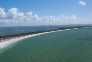 Aerial of Shoals Boca Grande Florida
