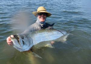 Releasing a tarpon in Boca Grande, FL