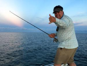 The joy of a tarpon hook up, Boca Grande, FL