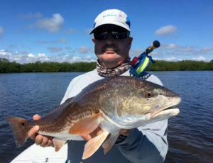 Redfish caught on the fly in Boca Grande