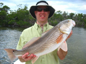 Tim Redfish caught on light tackle