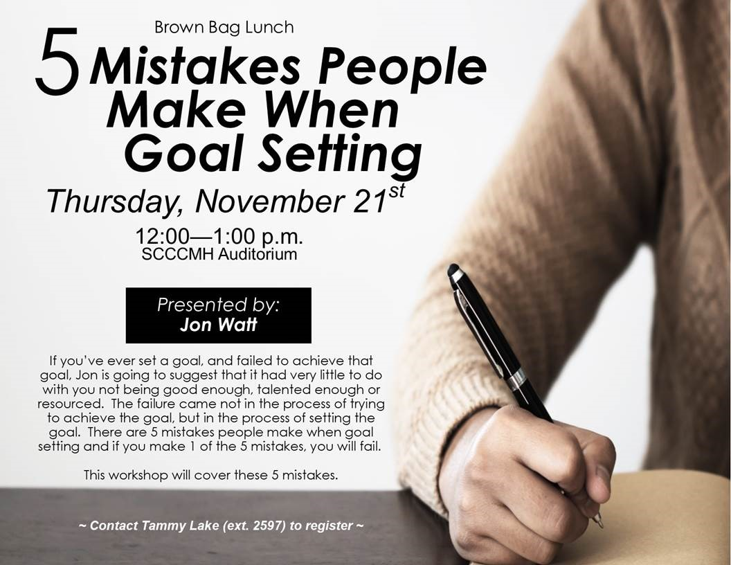 5 Mistakes People Make Flyer