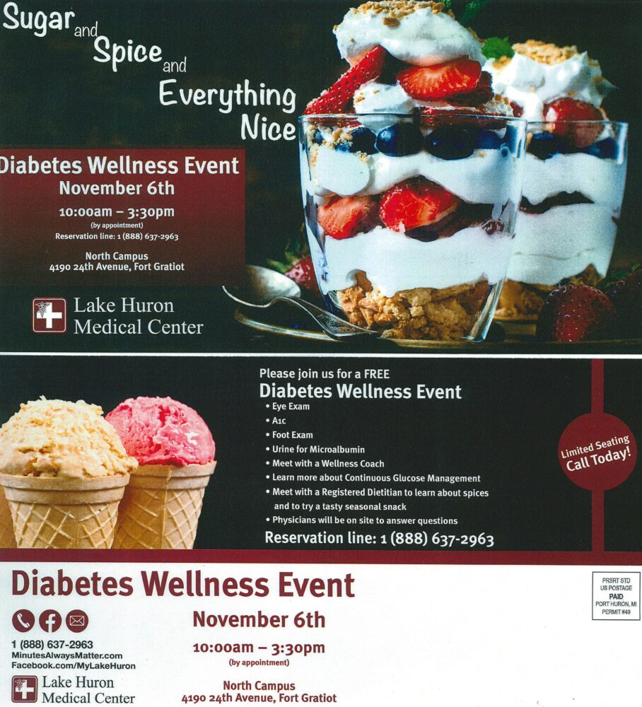 Diabetes Wellness Event Flyer