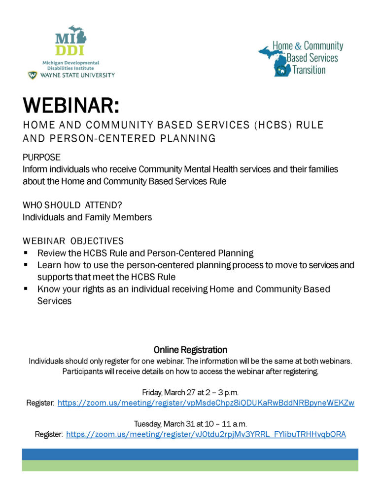 HCBS Webinar Flyer