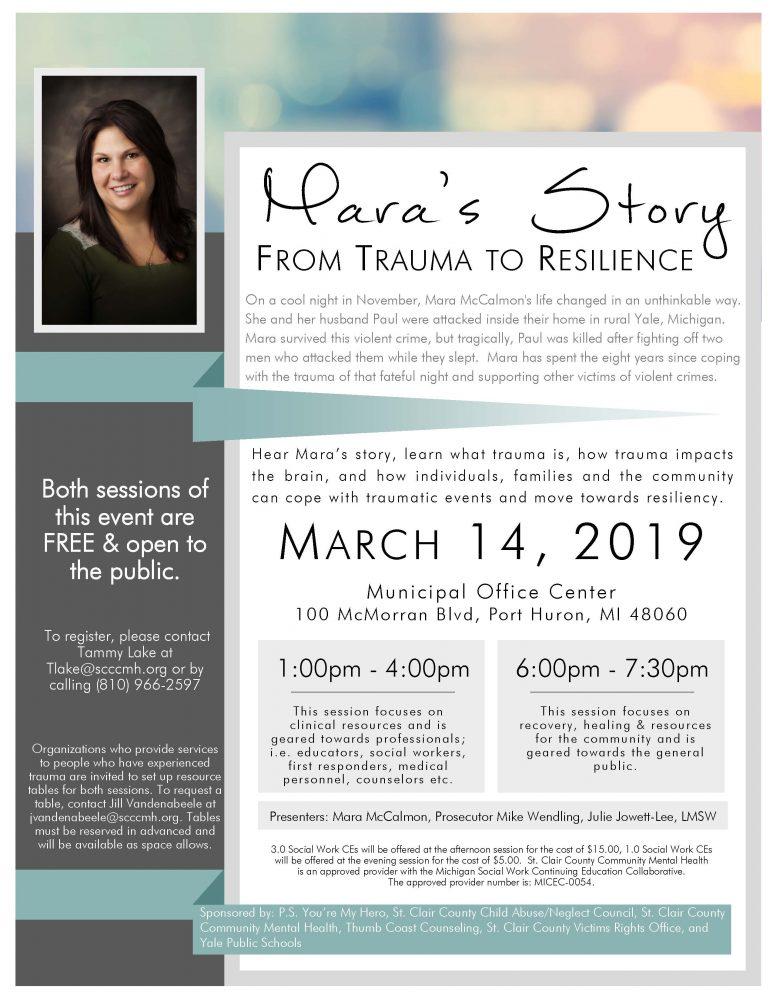Mara's Story Flyer