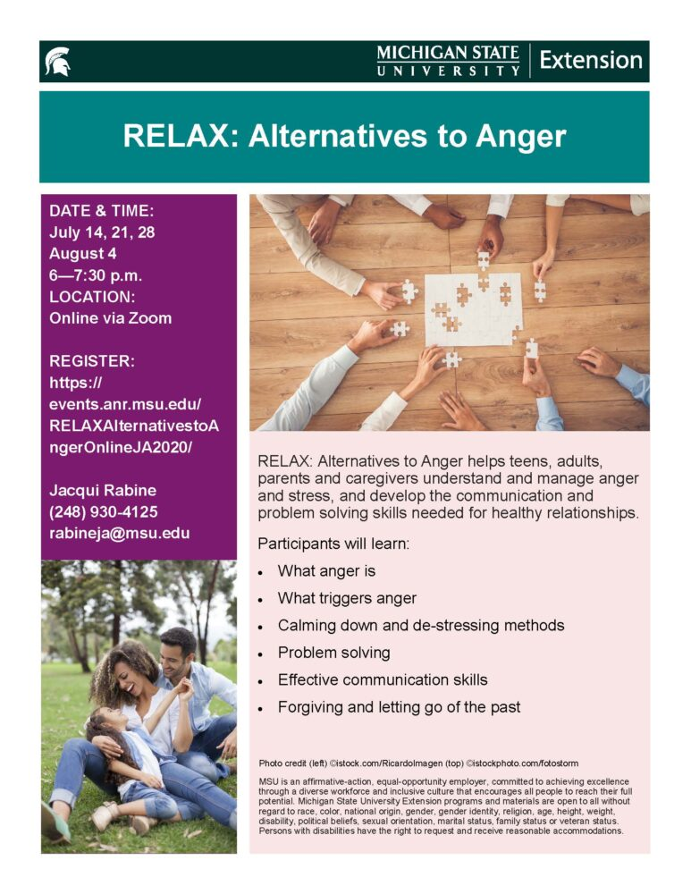 Alternative to Anger Flyer