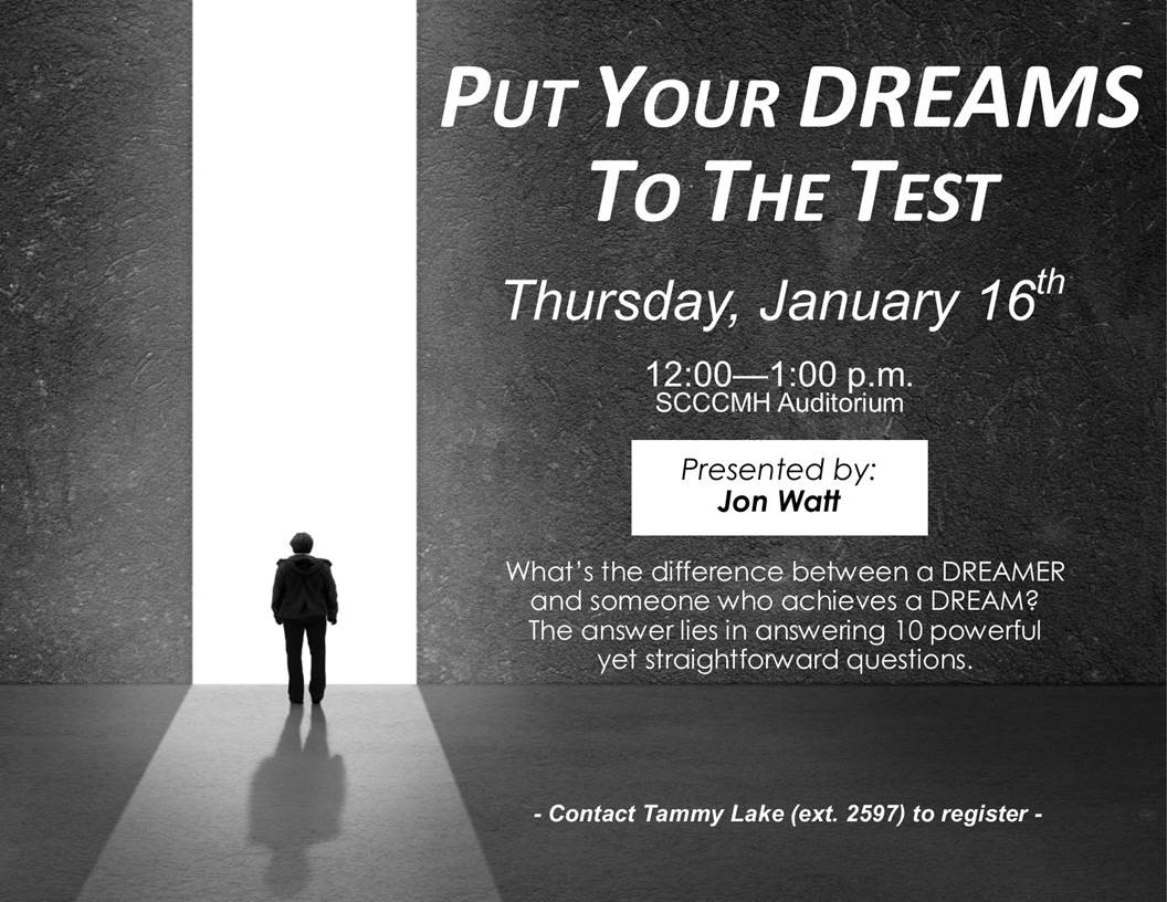 Put Your Dream to The Test Flyer