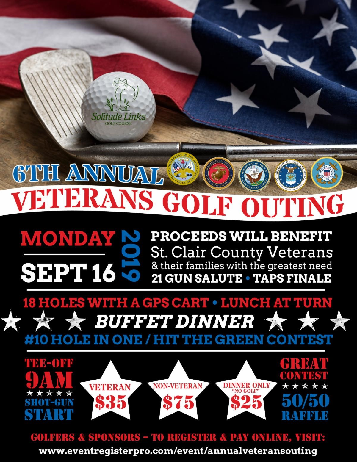 Veterans Golf Outing Flyer
