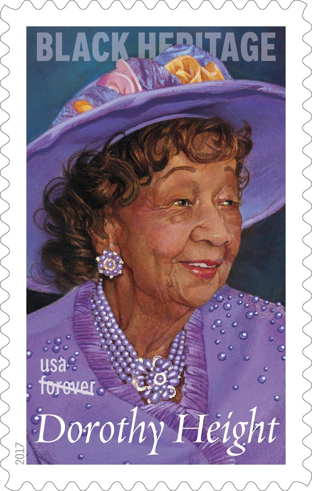 Dorothy Height Honored On U.S. Postal Stamp