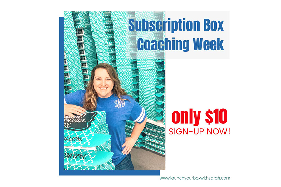 What happens in a Coaching Week with Sub Box Queen, Sarah Williams? Episode 25