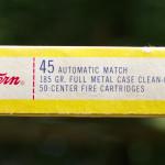 Western Super-Match 45 Automatic Ammunition Box Long Side