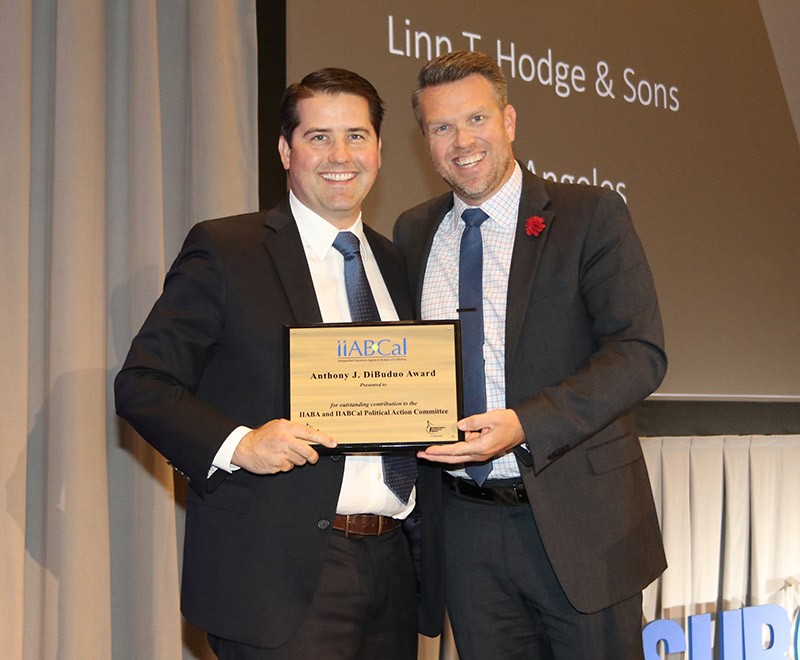 Kelly Hodge is Honored to receive the 2019 Anthony J. DiBuduo Award