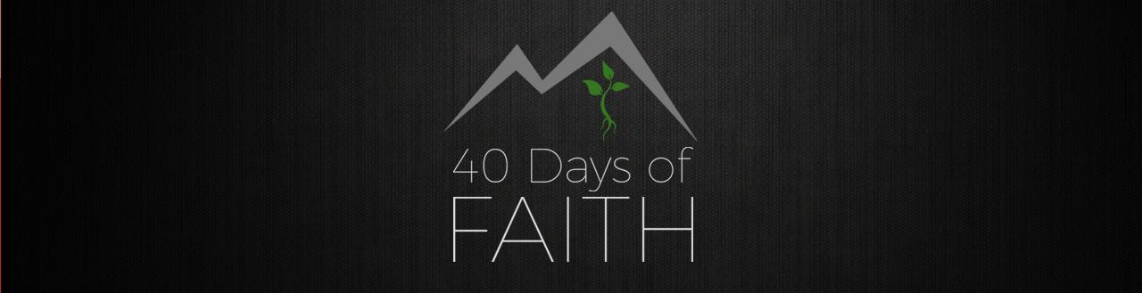 40 Days of Faith logo banner