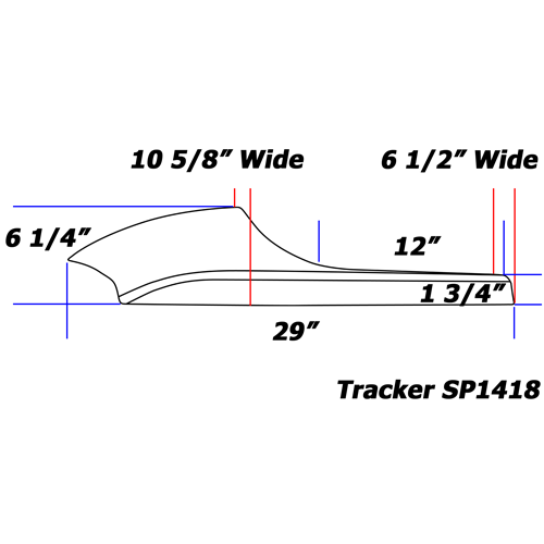 Trackster Seat line drawing