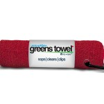Red Microfiber Golf Towel