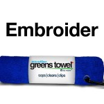 Royal Blue Embroidered Golf Towel