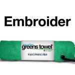 Green Custom Logo Golf Towel