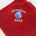 Red Logo Microfiber Golf Towels