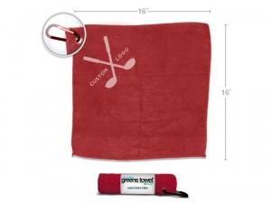 Red Custom Logo Golf Towels