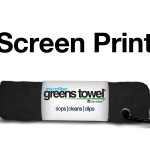 Imprinted Greens Towel Jet Black