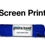 Imprinted Royal Blue Greens Towel