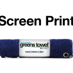 Imprinted Navy Blue Greens Towels