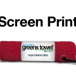 Imprinted Cardinal Red Greens Towels