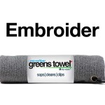 Custom Logo Gray Golf Towel