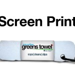 Imprinted Pure White Greens Towels
