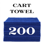 200 royal blue cart towels