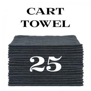 25 charcoal gray cart towels