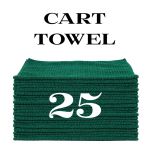 25 forest green cart towels